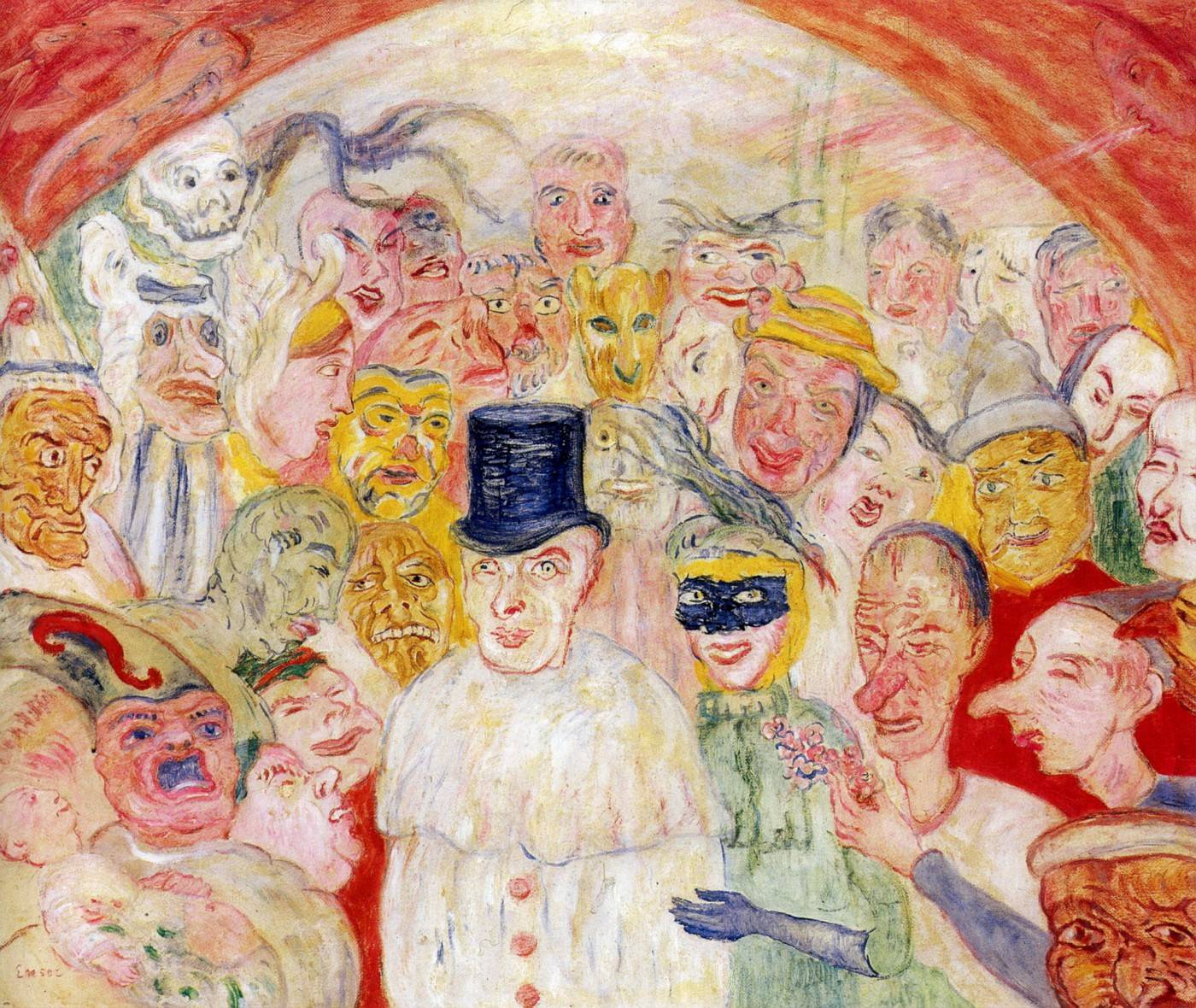 James Ensor, Les Masques Intrigues Intrigued Mask