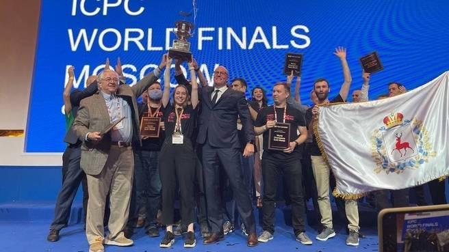 Чернышенко наградил победителей чемпионата по программированию ICPC