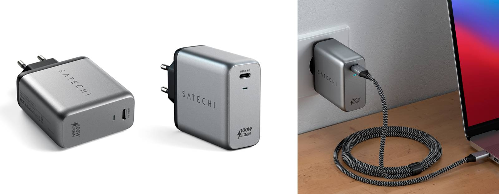 Сетевое зарядное устройство Satechi 100W USB-C PD Wall Chargerll Charger