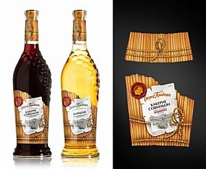 Разработан дизайн этикетки «Старые традиции» для винной компании «Янтарная гроздь»