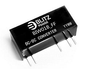 Blitz-power: Преобразователи с входным диапазоном 2:1 мощностью 1 и 2 Вт с изолированными выходами