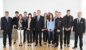Федеральный президент Германии посетил косметико-фармацевтическое предприятие Др.Тайсс Натурварен.