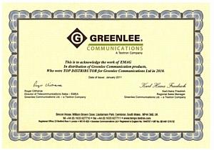 Компания «ИМАГ», эксклюзивный поставщик профессионального инструментария «Greenlee Communications» на территории России, получила в 2010 г. статус лучшего дистрибьютора в Европе