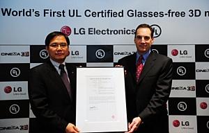 Underwriters Laboratories сертифицировала монитор LG CINEMA 3D без очков