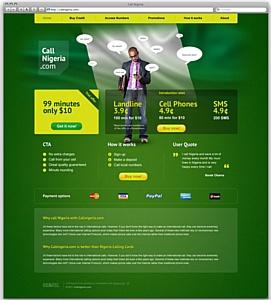 Промо-сайт для продажи дешевых звонков в Нигерию