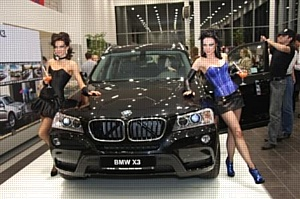 Вода «Горная вершина» компании «Аквалайн» была представлена на презентации нового автомобиля BMW X3