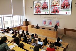 Лекция директора по связям с общественностью LG Electronics Татьяны Шахнес в РЭУ им. Плеханова