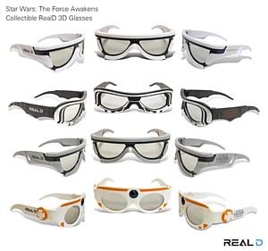 RealD представила 3D-очки, созданные по мотивам фильма «Звёздные Войны: Пробуждение Силы»