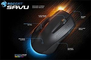 ROCCAT представила на CeBIT 2012 инновационную геймерскую мышь Savu