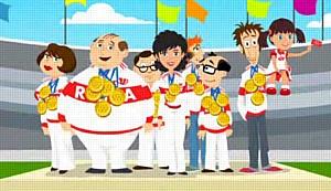 Наши в Лондоне– мультик о том, как бухгалтер из России победил всех на Олимпиаде