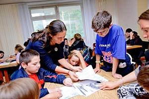 Реабилитационный лагерь «Трансаэро» дарит детям радость творчества