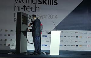 Сварочный тренажер Fronius принял участие в WorldSkills Hi-Tech 2014