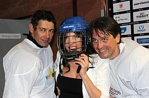 Благотворительная игра в хоккей со звёздами и Холдингом «Даймонд»