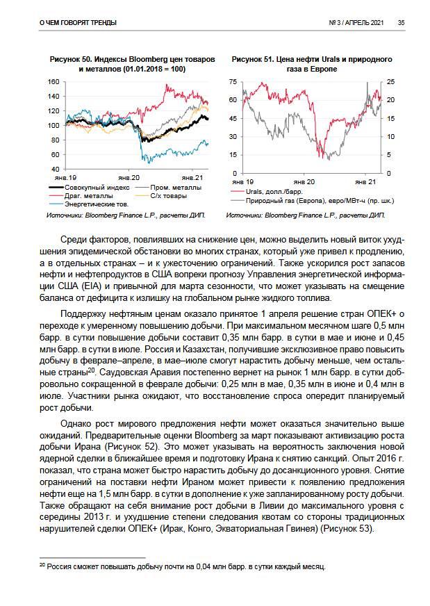 О чем говорят тренды: дальнейшее восстановление экономики