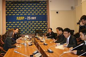 Депутаты Госдумы РФ встретились с делегацией провинции Чжэцзян