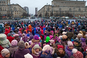 Широкая масленица на Московской площади с истинно русским размахом