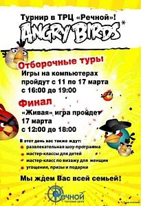 Праздничный турнир Angry Birds в ТРЦ «Речной»