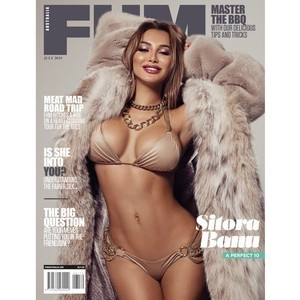 Sitora Banu на обложке популярного мужского журнала
