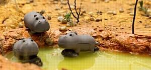 Веселые бегемотики Bone Hippo Driver