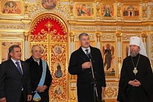 На о. Свияжск состоялось открытие Сергиевской церкви, отреставрированной Банковской группой Зенит