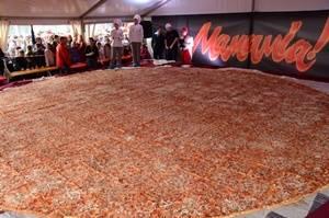 В Киеве установили рекорд на самую большую пиццу Украины