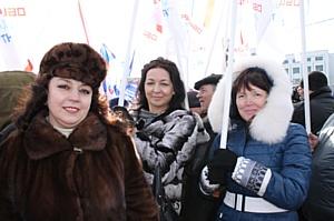 Ивановские активисты ОНФ приняли участи в митинге в честь второй годовщины воссоединения с Крымом