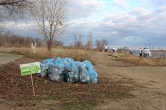 Волонтеры благоустроили парковую зону в Волгограде