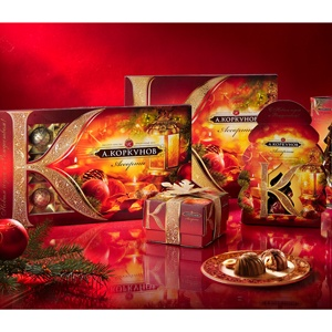 Новогодний дизайн упаковки для ТМ «Коркунов»