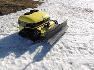 Эксплуатация роботов-косилок Lynex зимой