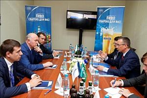 """Руководители Самарской области и компании """"Балтика"""" обсудили актуальные вопросы пивоваренной отрасли"""
