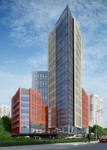 Завершен фасад бизнес-центра Aero City в Химках