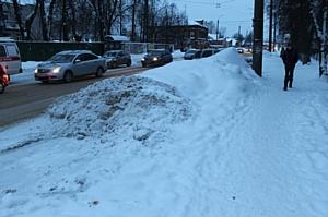 Активисты ОНФ раскритиковали качество уборки улиц Иванова от снега и наледи