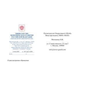Ответ Минэкономразвития РФ Штабу МОО