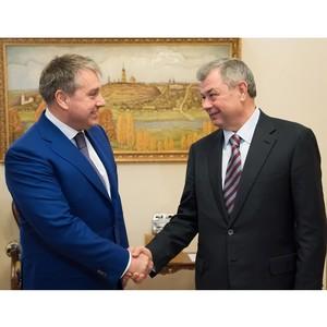 Глава МРСК Центра и Приволжья Олег Исаев встретился с губернатором Калужской области Артамоновым