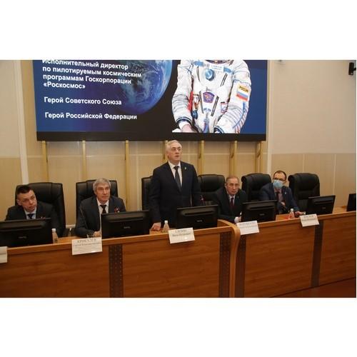 Встреча в УрГЭУ с космонавтом Сергеем Крикалевым