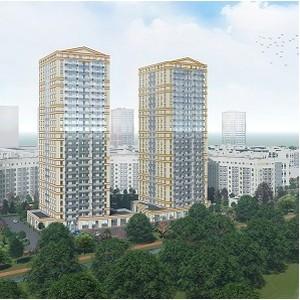 В ЖК «Ойкумена» строители еженедельно возводят 1 этаж