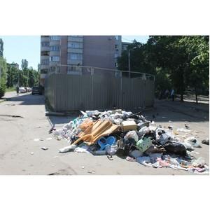 Активисты ОНФ призвали власти Воронежа решить проблему со сбором отходов на Ленинском проспекте