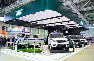 На выставке Интерполитех 2015 компанией «Привет-Медиа» был застроен выставочный стенд УАЗ