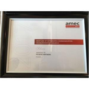PR News удостоилась серебряной награды премии AMEC Awards 2017 сразу в двух номинациях!