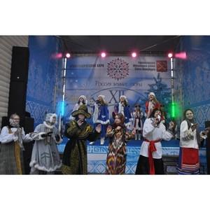 Зимний этнографический парк «Россия – зимние узоры» на Московской площади в Санкт-Петербурге