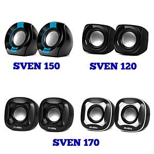 Больше звука! Миниатюрные колонки Sven 120, Sven 150 и Sven 170