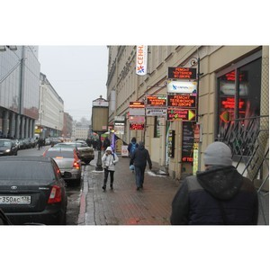 Активисты ОНФ выявили незаконные рекламные баннеры в историческом центре Петербурга