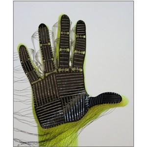 Новая недорогая сенсорная перчатка позволит роботам с искусственными руками чувствовать то, к чему они прикасаются