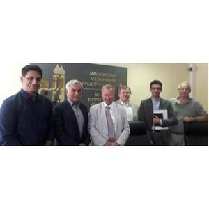 Встреча с членами рабочей группы иранских бизнесменов, представляющих группу компаний Alhay Investments Groups
