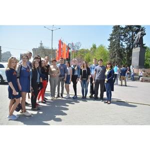 Студенты ЮРИУ РАНХиГС приняли участие в первомайском шествии