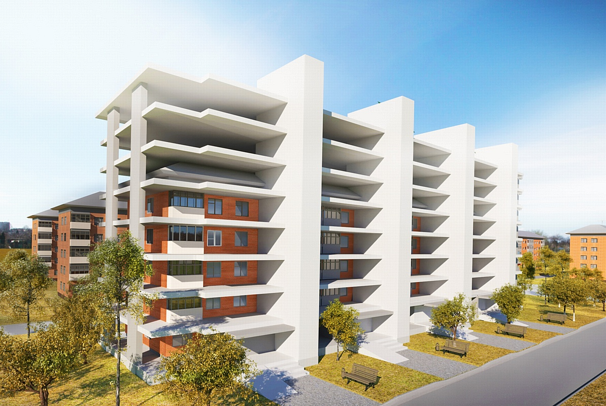 Проект Реконструкции пятиэтажек: 3d визуализация