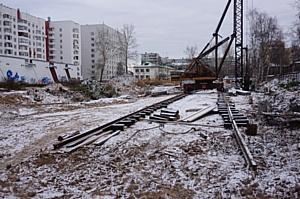 На первом в Архангельске ЖК эко-класса устанавливают башенный кран