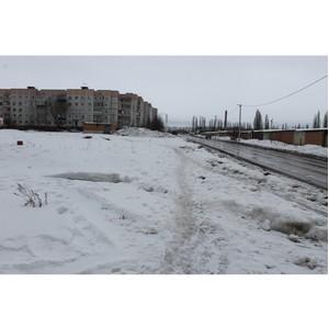 ОНФ обратился к властям с просьбой проложить тротуары на двух улицах Острогожска