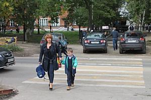 На пешеходных переходах у школ появилась новая дорожная разметка