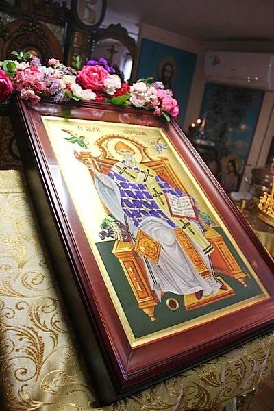 Икона  св. Спиридона Тримифунтского прибыла в ростовский храм Петра и Февронии